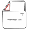 81-85 GM & Chevy Pickup, Vent Window Seals (2pc Design), 4pc Set