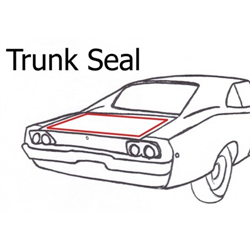 82-2000 Cavalier, 82-94 Sunbird, 95-2000 Sunfire Convertible, Trunk Seal