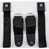 67-69 GM F Body, OE Style 2pt Retractable Front SeatBelts, PAIR - BLACK