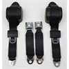 79-89 Mustang, Front Bucket Retractable Seat Belts, Pair - CHARCOAL